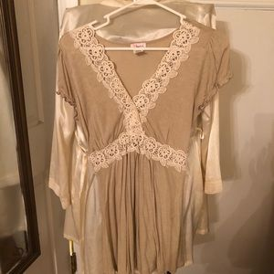 Beige Top with Lace